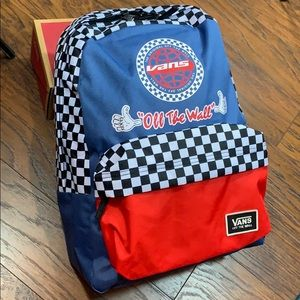 VANS BMX BACKPACK blue/black/white/red